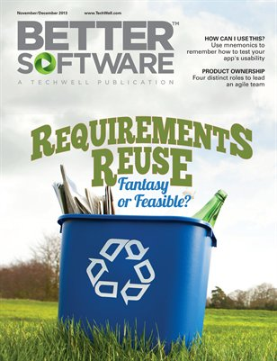 Better Software Magazine November/December 2013