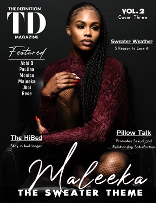 The Definition: Maleeka -Sweater/Coat/Hoodie Edition vol2 cover 3 Jan.2021