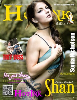 HOT INK MAGAZINE - Cover Model Shan - September 2016