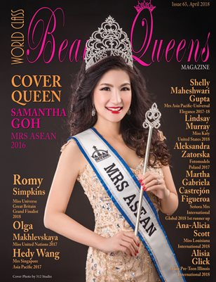 World Class Beauty Queens Magazine issue 65 with Samantha Goh