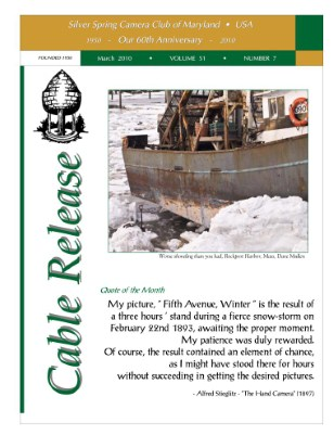 March 2010 Cable Release, Vol. 51, No. 7