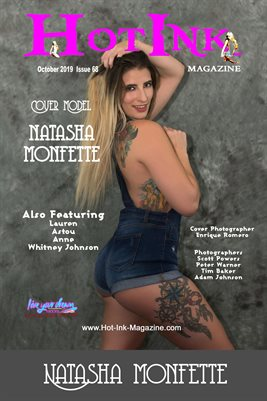HOT INK MAGAZINE COVER POSTER - Cover Model Natasha Monfette - October 2019