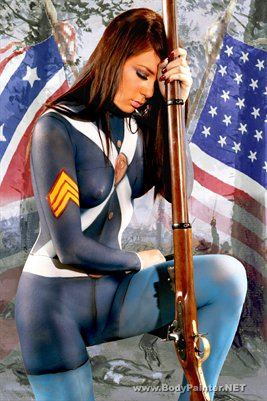 Civil war Body Painting Poster