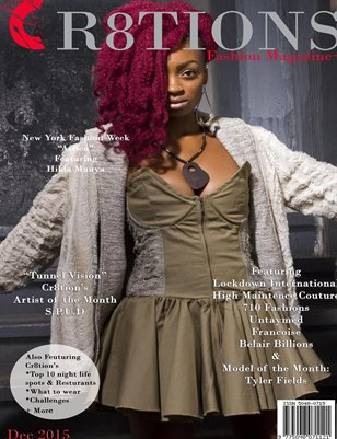 Cr8tions Magazine December 2015 Untaymed Cover