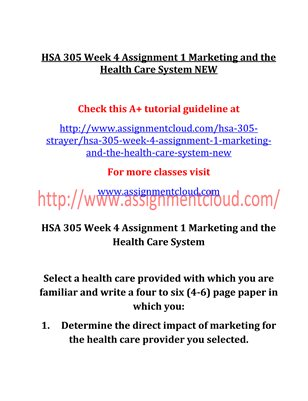 HSA 305 Entire Course NEW