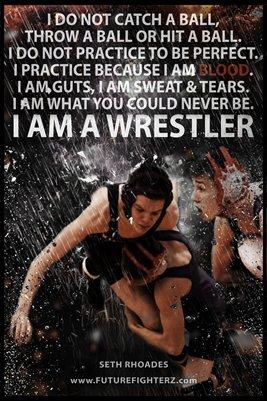 I am a Wrestler - Seth Rhoades Poster