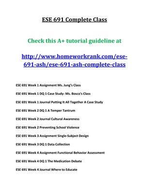ESE 691 CompleteClass Publication