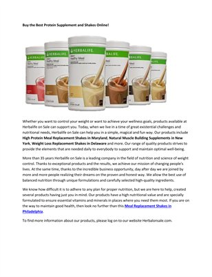 High Protein Shakes to Lose Weight Philadelphia