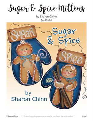 Sugar and Spice Mittens Painting Pattern by Sharon Chinn - SC15963