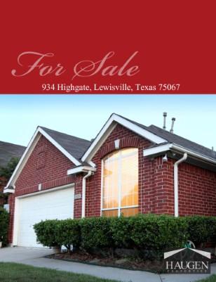 Haugen Properties - 934 Highgate, Lewisville, Texas 75067