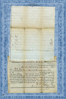 (PAGE 3) 1872 F.A. Juney vs. C.D. Smith, McCracken County, Kentucky