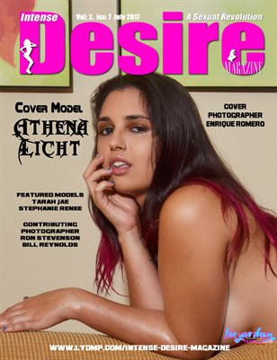 INTENSE DESIRE MAGAZINE - Cover Model Athena Licht - July 2017