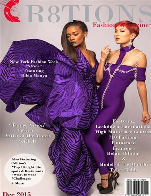 Cr8tions Magazine December 2015 710 Fashions Cover