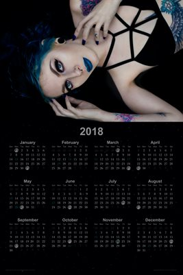 2018 Calendar Poster | Tattoo Model Art | Samantha Luna