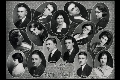 1922 Mayflower Staff, Mayfield High School, Mayfield, Graves County, Kentucky