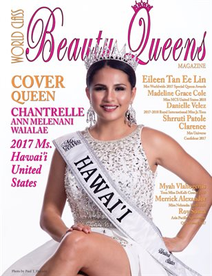 World Class Beauty Queens Magazine Issue 60 Chantrelle Ann Melenani Waialae