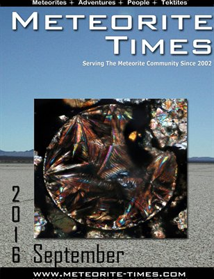Meteorite Times Magazine - September 2016 Issue