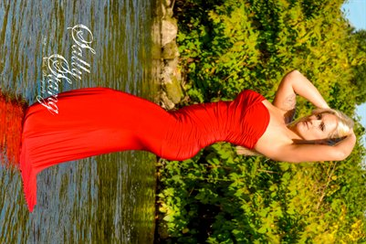 Sally Stang Fall in the Red Dress