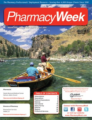 Pharmacy Week, Volume XXIII - Issue 19 & 20 - May 18 - June 7, 2014