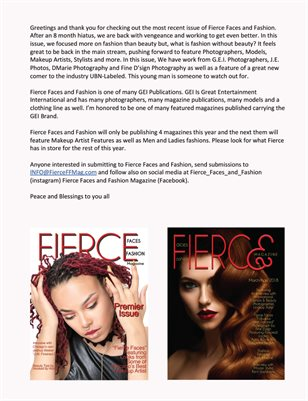 Fierce Faces & Fashi    | Fierce Faces & Fashion Magazine Q1 2