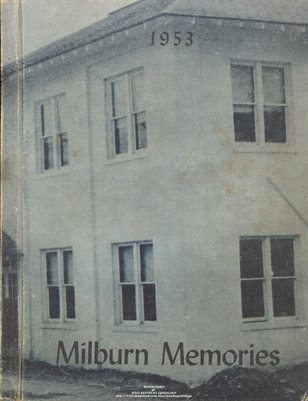 1953 MILBURN MEMORIES YEARBOOK, MILBURN, CARLISLE COUNTY, KENTUCKY