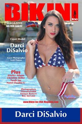 BIKINI INC USA MAGAZINE COVER POSTER - Cover Model Darci DiSalvio - July 2020