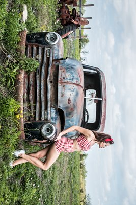 Miss April - Chevy Truck