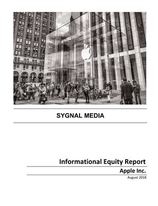 Apple Inc. - Informational Equity Report - August 2018
