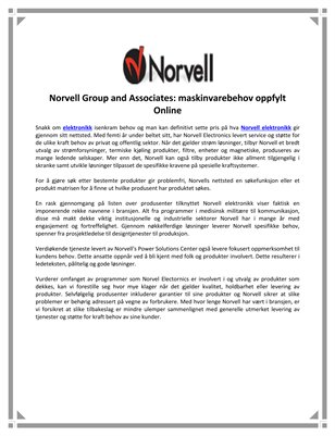 Norvell Group and Associates: maskinvarebehov oppfylt Online