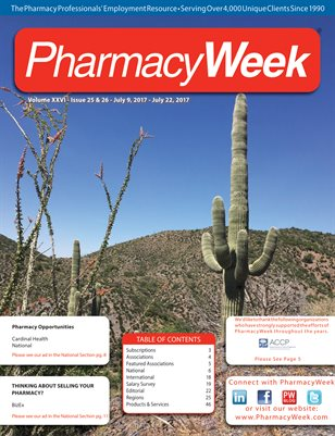 Pharmacy Week, Volume XXVI - Issue 25 & 26 - July 9, 2017 - July 22, 2017