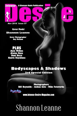 INTENSE DESIRE MAGAZINE COVER POSTER - BODYSCAPES & SHADOWS 3rd SPEC EDITION - Cover Model Shannon Leanne - Nov 2019