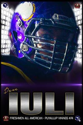 Dave Iuli Football Poster V2