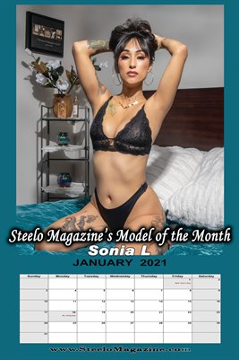 Steelo Magazine - Model of the Month Sonia L - January 2021 Poster