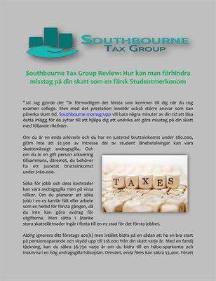 Southbourne Tax Group Review: Hur kan man förhindra misstag på din skatt som en färsk Studentmerkonom