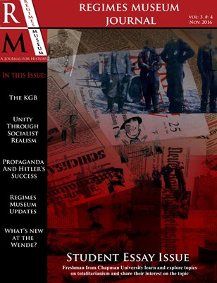 Regimes Museum Journal Volume 3, Issue 4