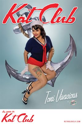 Kat Club No.20 – Toni Vivacious Cover Poster