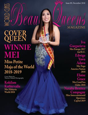 World Class Beauty Queens Magazine Issue 89 with Winnie Mei