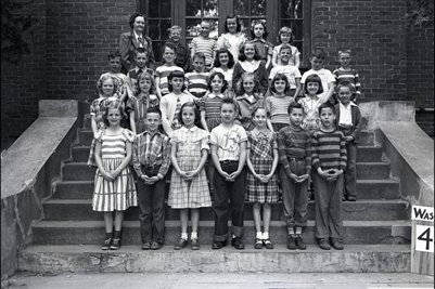 May 10 1951 4th Grade, Washington School, Graves County, Kentucky