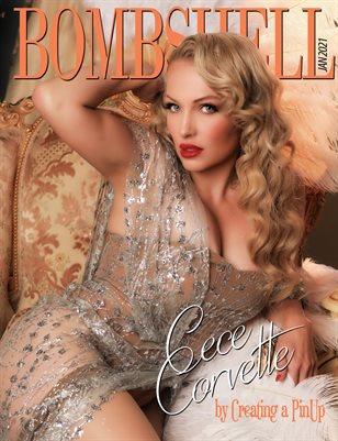 BOMBSHELL Magazine January 2021 - Cece Corvette Cover