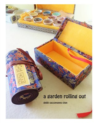 a garden rolling out
