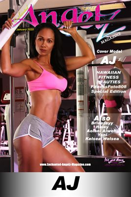 ENCHANTED ANGELZ MAGAZINE COVER POSTER - FITNESSFOTO808 SPEC EDITION - Cover Model AJ - January 2020