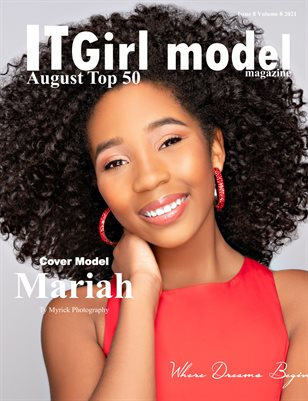 It Girl Model Magazine August Top 50 Issue 8 Volume 8 2021