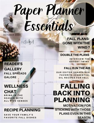 Paper Planner Essentials October 2020