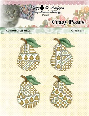 Crazy Pears Ornaments Counted Cross Stitch Pattern