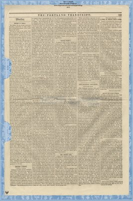 (PAGES 5-6) Portland Transcript, Aug. 13, 1853, Portland, Maine