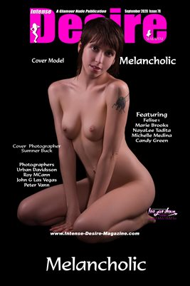 INTENSE DESIRE MAGAZINE COVER POSTER - Cover Model Melancholic - September 2020