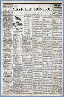 (Pages 1-2) Mayfield Monitor, Feb. 01,1879