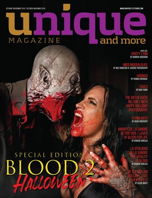 UNIQUE MAGAZINE SPECIAL EDITION  BLOOD 2 - HALLOWEEN !