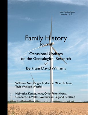 Family History Journal Issue, Issue Seven
