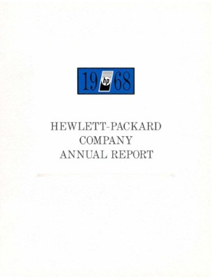 HP Annual Report 1968